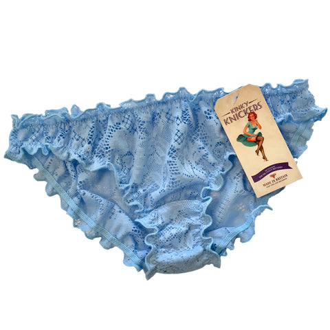 Signature Lace Ruffle Knicker - Powder Blue
