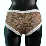Signature Lace Classic Fit Knicker - Gold Dust & Ivory