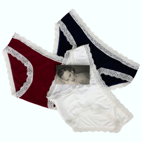 Soft Touch Cheeky Fit Brief 3 Pack - Claret, Ivory & Navy