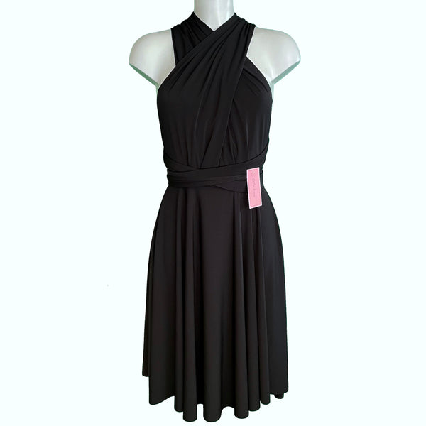 Soft Touch Infinity Dress - Raven Black