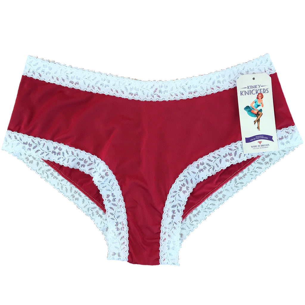 Kinky Knickers Butter Soft Classic Knicker - Red