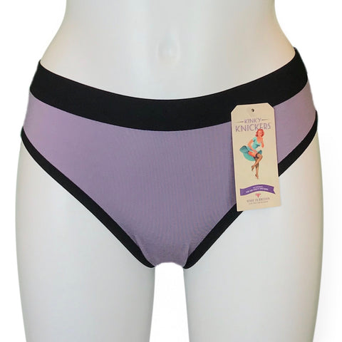 Bamboo Soft Knit Jersey Bikini Knicker - Pebble