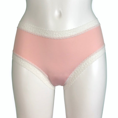 Classic Fit Butter Soft Knicker - Soft Pink & Ivory