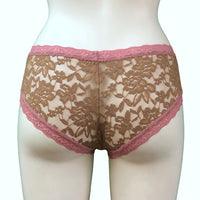Signature Lace Classic Fit Knicker - Gold Dust & Vintage Rose
