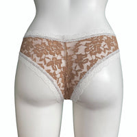 Signature Lace Brazilian Fit Knicker - Gold Dust & Ivory