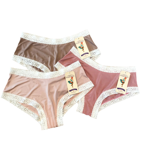 Kinky Knickers Butter Soft Classic Knicker (Coffee & Cream 3 Pack)
