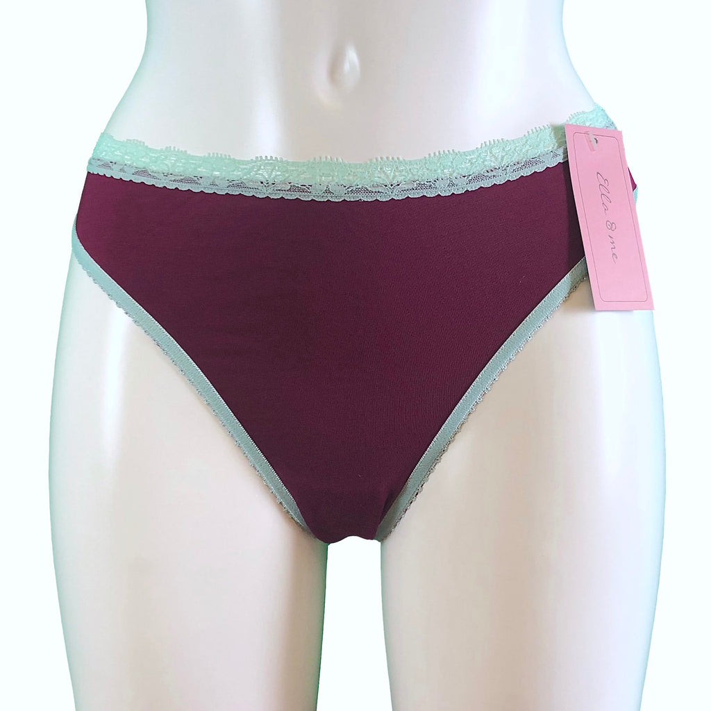Soft Bamboo Jersey Thong - Rosewood & Spearmint