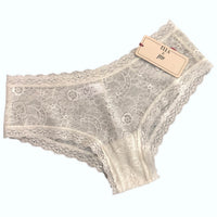 Super Soft Jacquard Lace Classic Fit Knicker - Ivory