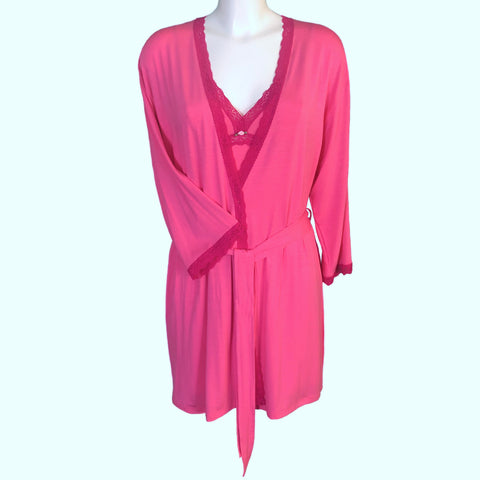 Bamboo Soft Knit Jersey Short Wrap - Candy Pink & Raspberry