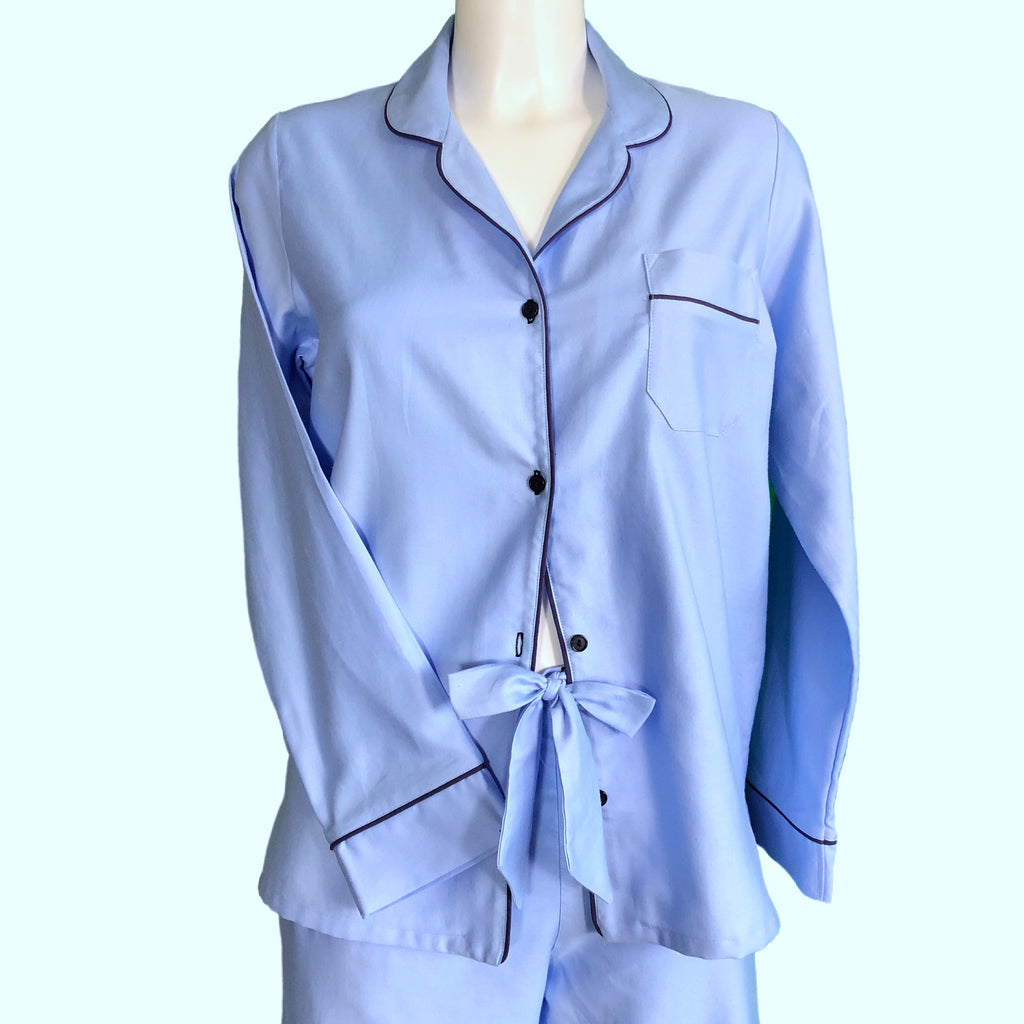 Classically Tailored 'Boyfriend' Pyjama - Blue / Navy