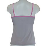 Kinky Knickers Crystal Grey & Quartz 'Gentle Touch' Strappy Cami Top