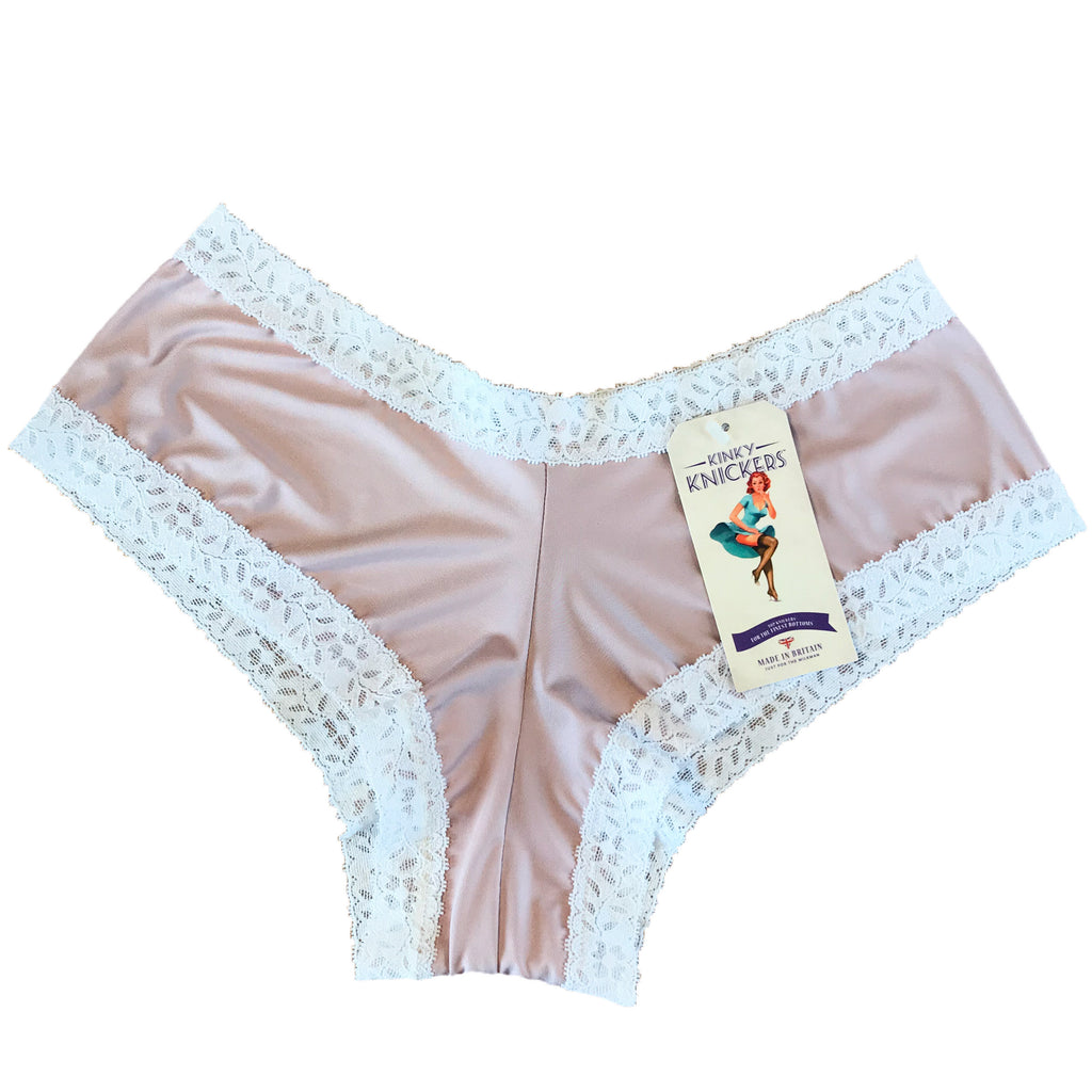 Kinky Knickers Butter Soft Brazilian Cut Knicker - Almond