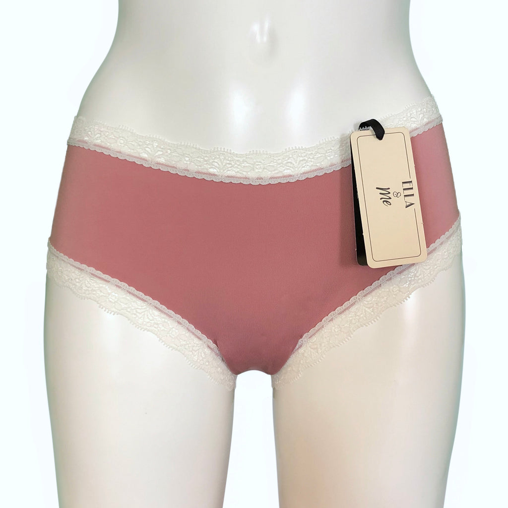 Soft Touch Classic Fit Knicker - Cameo Pink & Ivory
