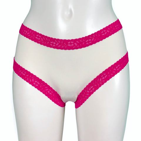 Classic Fit Butter Soft Knicker - Ivory & Fuchsia