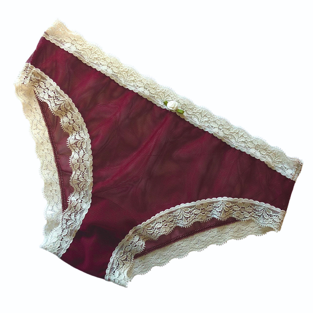 Fine Stretch Mesh Bikini Brief - Confident Claret