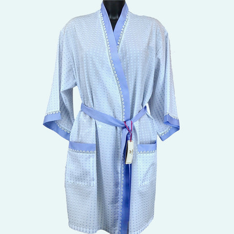 Chambray & Spot Light Weight Kimono