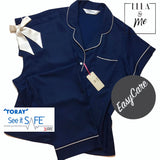 Ella & Me ...The Paramount Classic Navy Pyjama With Full Length Trouser
