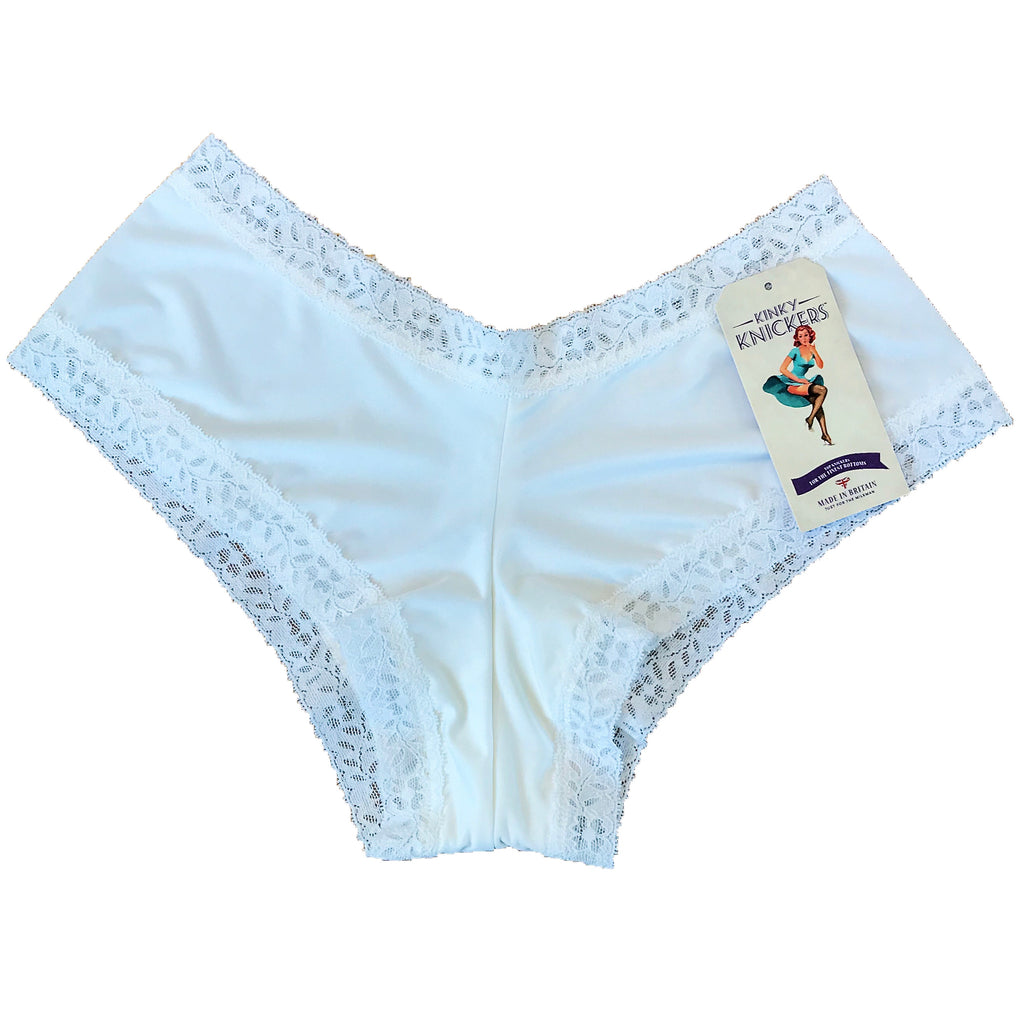 Kinky Knickers Butter Soft Brazilian Cut Knicker - White