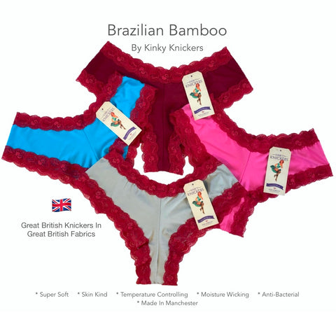 Bamboo Brazilian Fit Knicker - 4 Pack