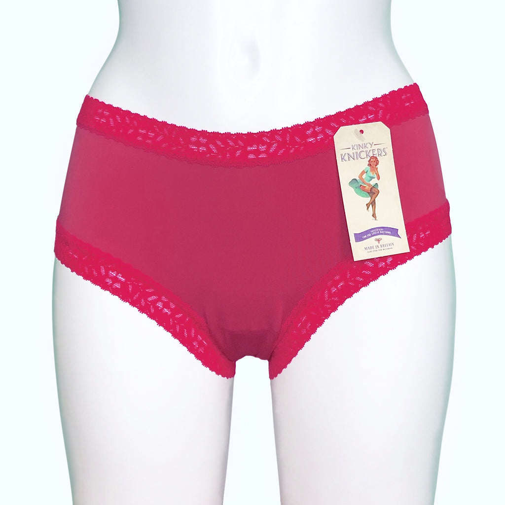 Soft Touch Classic Knicker - Ruby