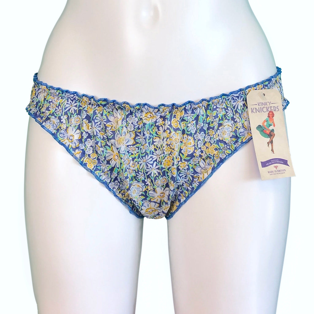 Liberty Print Soft Cotton Lawn Ruffle Knicker - Summer Meadow