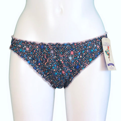 Liberty Print Soft Cotton Lawn Ruffle Knicker - Fizz Pop