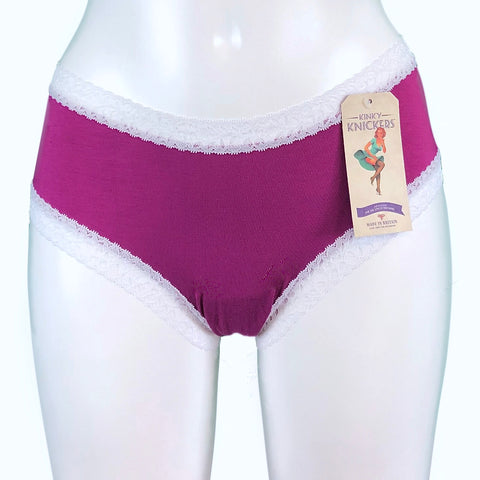 Bamboo Soft Knit Jersey Classic Knicker - Hibiscus