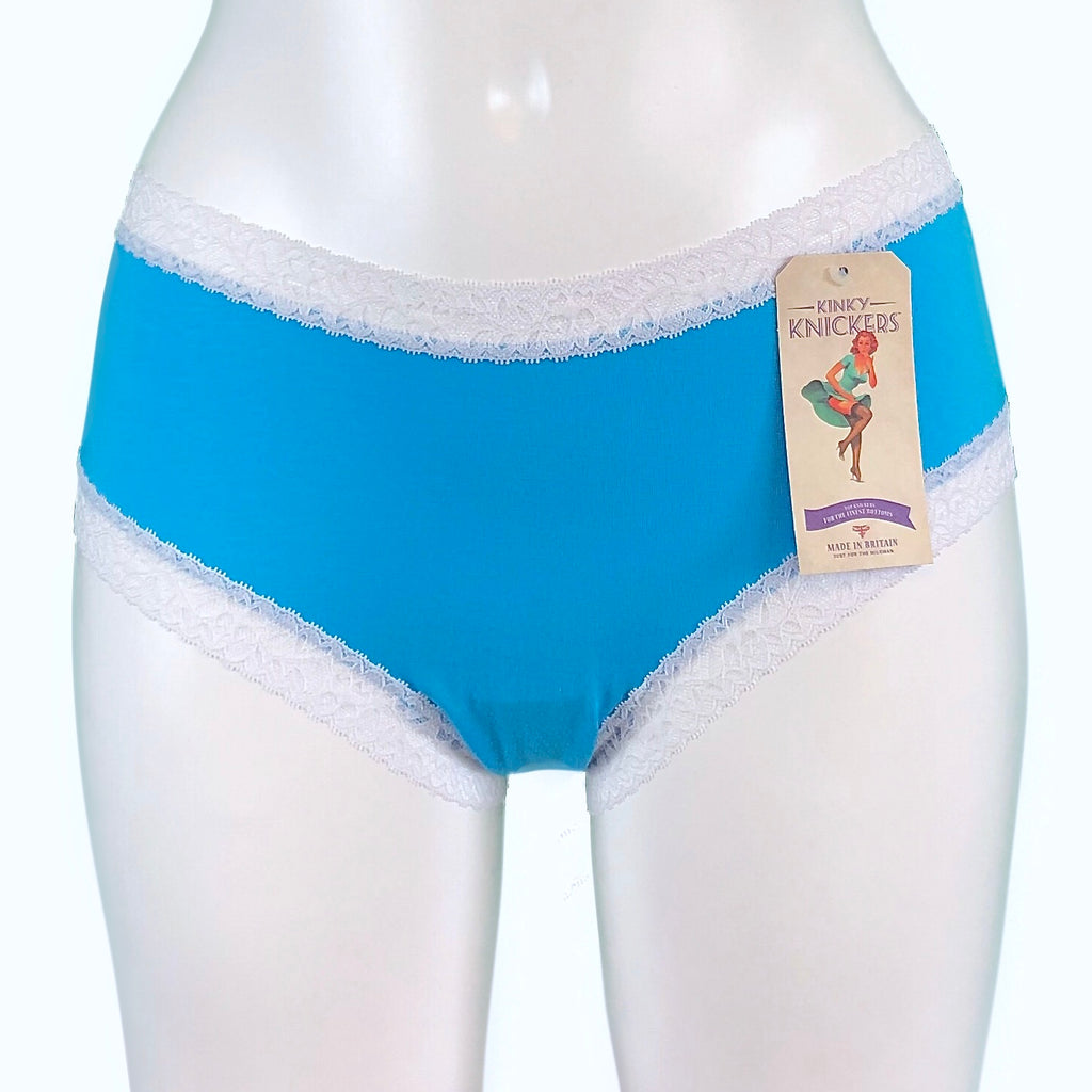 Bamboo Soft Knit Jersey Classic Knicker - Turquoise