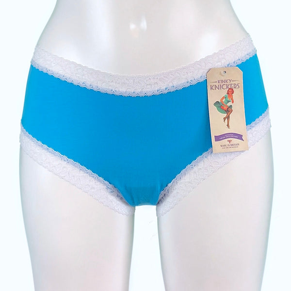 Bamboo Soft Knit Jersey Classic Fit Knicker - Turquoise