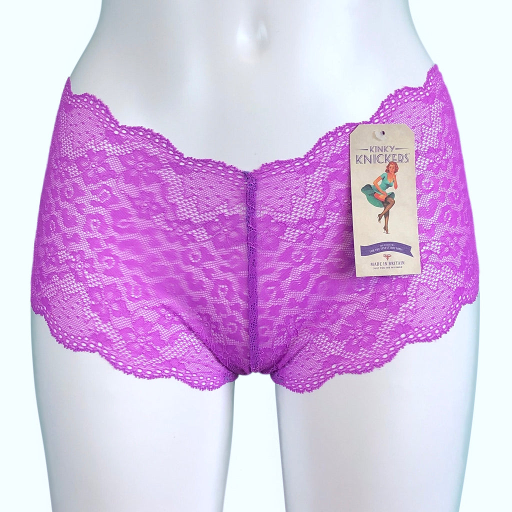 Jacquard Lace Classic Knicker - Lavender