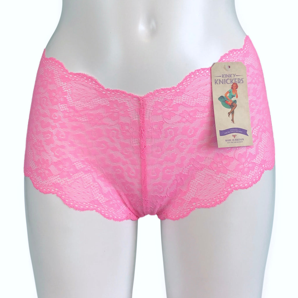Jacquard Lace Classic Knicker - Strawberry