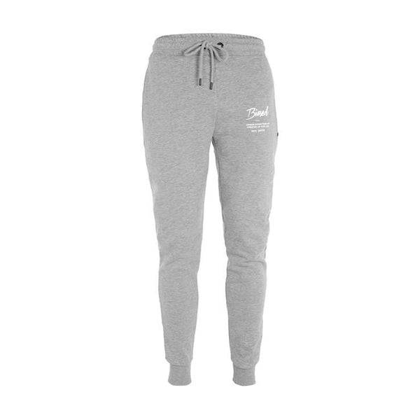 Script Slim Fit Joggers - Heather Grey