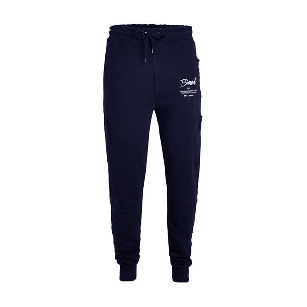 Script Slim Fit Joggers - Navy