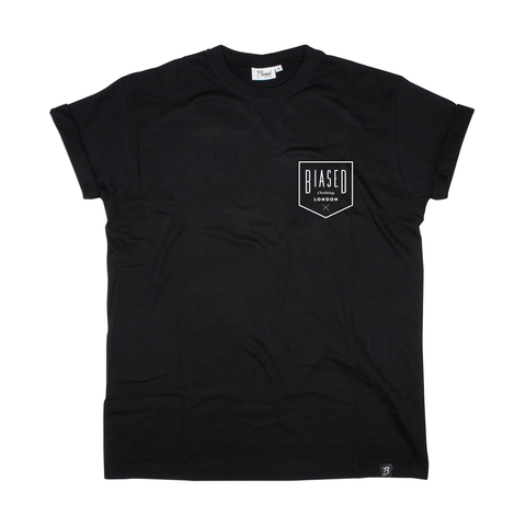 Badge Print Tee - Black