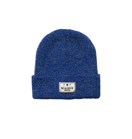 Patch Beanie - Blue Heather