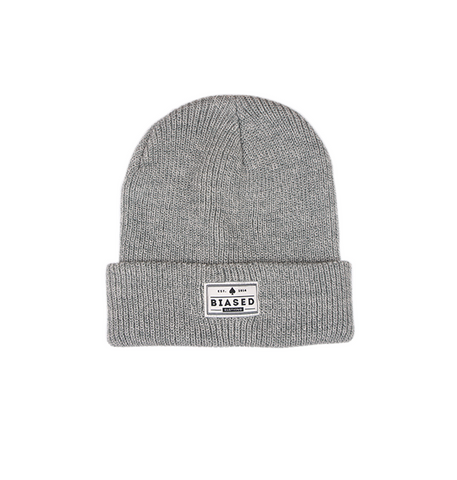 Patch Beanie - Grey Heather