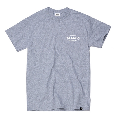 Chest Print Tee - Grey Heather
