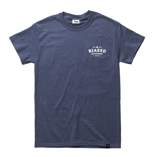 Chest Print Tee - Navy Heather