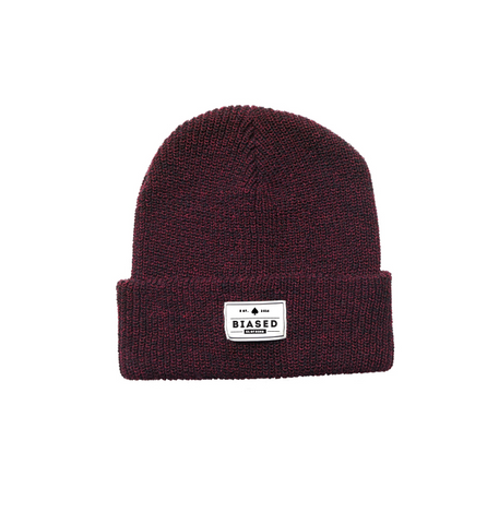 Patch Beanie - Antique Burgundy
