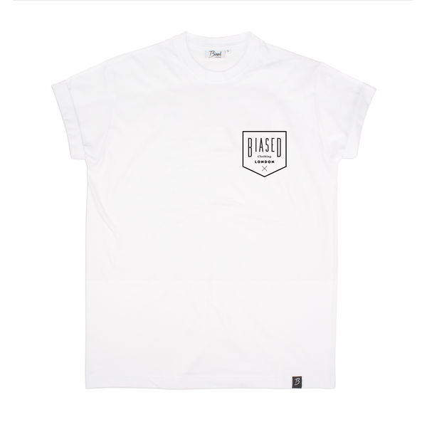 Badge Print Tee - White