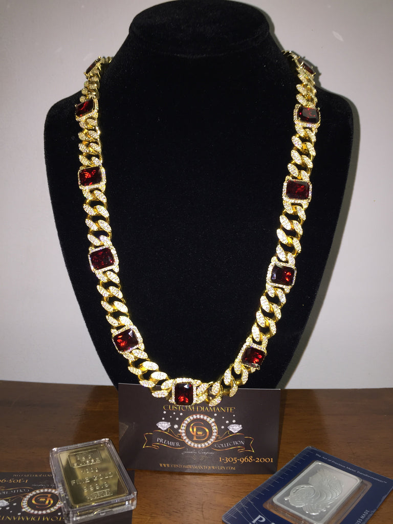gold diamond yellow in link vvs presidents cuban necklace products
