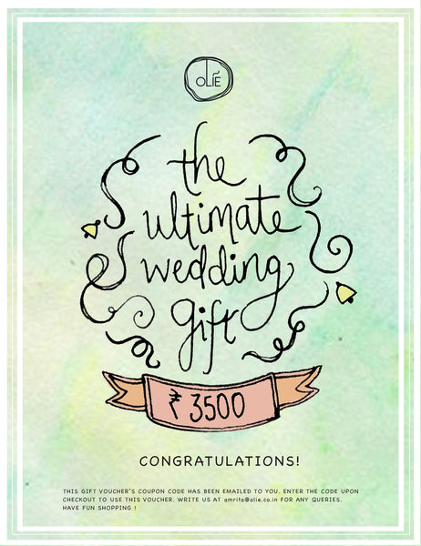 The Ultimate Wedding Gift Voucher