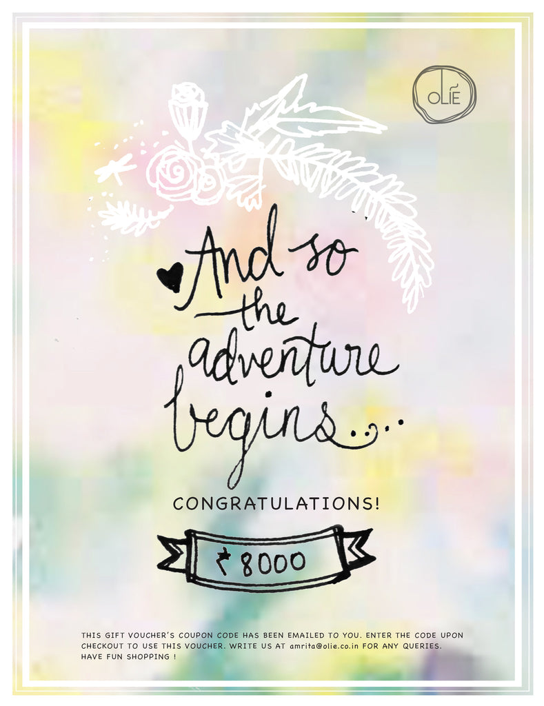 The Adventure Begins Gift Voucher