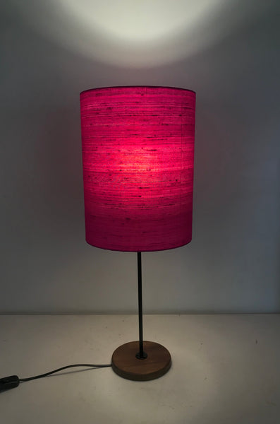 Raw Silk Table Lamp