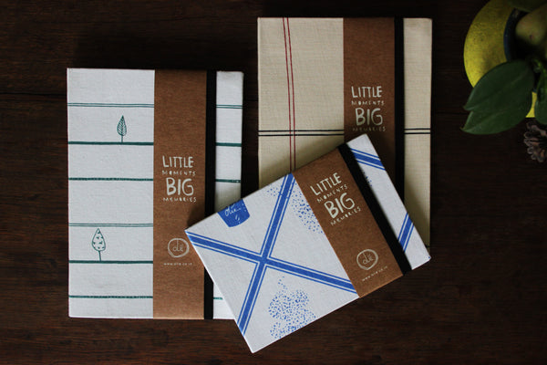 Set of 3 Journals (2 big and a small Chai)