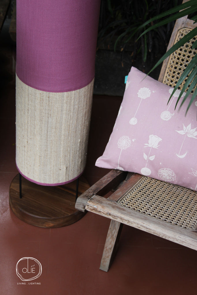 Lilac Tower Floor Lamp