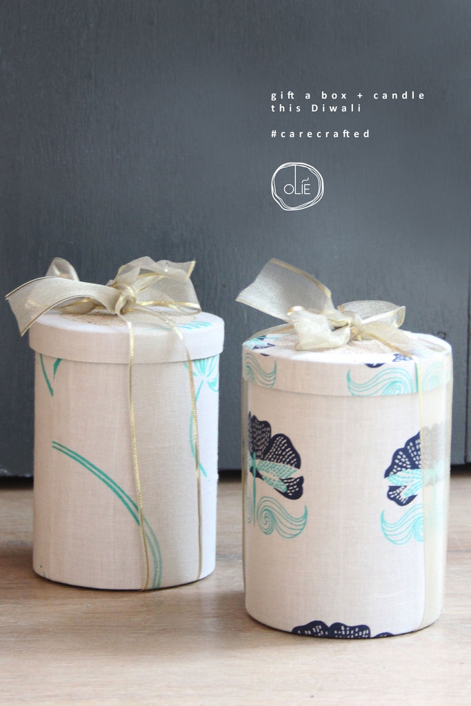 Impermanence Tall Round Box + Candle Gift set