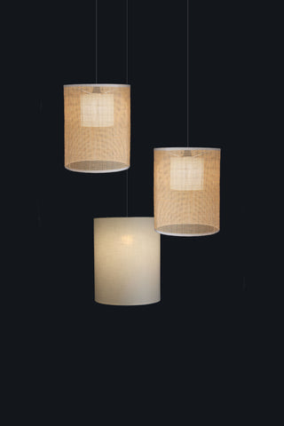 Gingham Pendant Lamp Cluster of 3