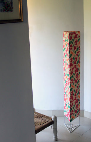Lost in Flowers Triangle Floor Lamp