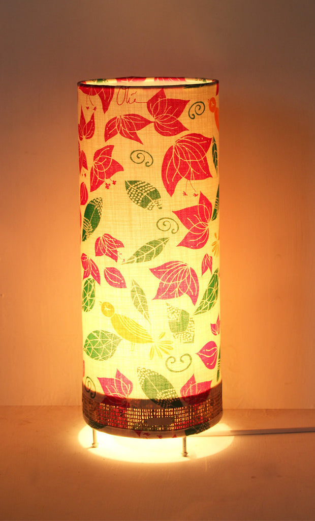 Lost in Flowers Cylinder Table Lamp